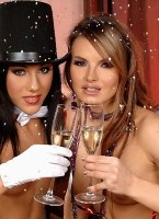 A NYE party to remember with Anita Pearl and Suzie Carina